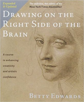 photo of bookcover of drawingrightsideofbrain