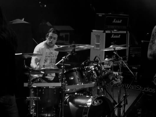 Photograph of Jordan Pasquin Drumming