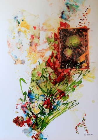 Increase Your Creativity Photo of a Mixed Media Painting